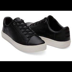 TOMS Black leather Lenox sneakers